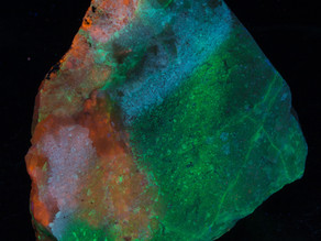 Green Fluorescing Ussingite with Sodalite - Greenland
