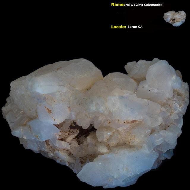 Colemanite - Boron CA - Shortwave