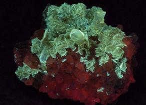 Selenite on Halite, Phosphorescent - Paracas, Ica Dept. Peru