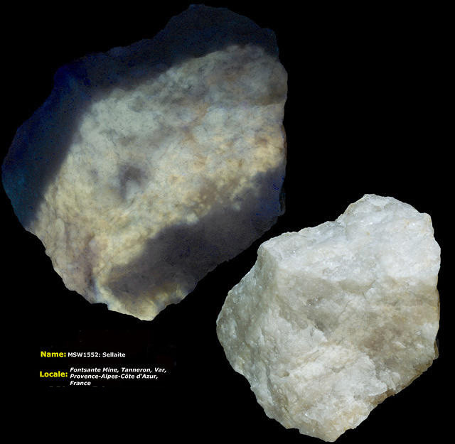Sellaite - Fontsante Mine, Tanneron, France