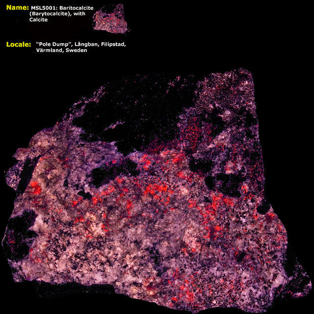 Baritocalcite (Barytocalcite) w/ Calcite - Langban, Sweden