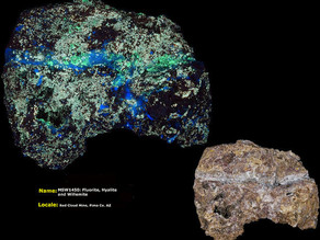 Fluorite, Hyalite, Willemite - Red Cloud Mine, Pima Arizona