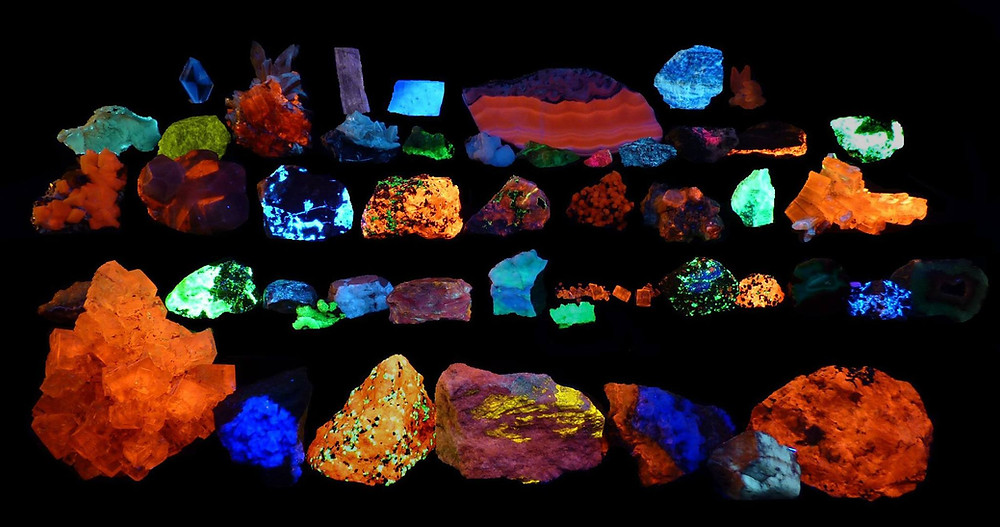 Fluorescent Mineral Display - H Belzer