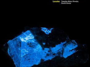 Gemmy Scheelite Crystals from the Taewha Mine, Chunju, South Korea