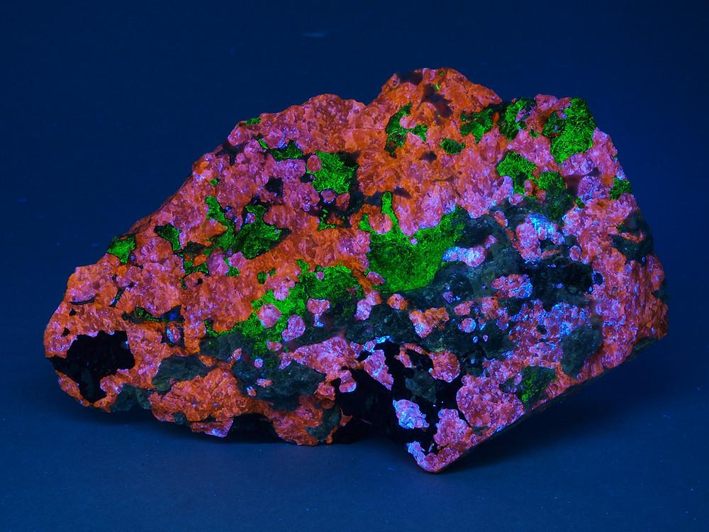 Sterling Hill Mining Museum Sphalerite, Willemite, Franklinite, Talc, ex Marian Reitenbaugh collection