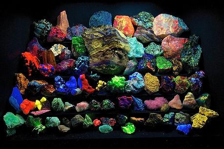 Fluorescent Mineral Display courtesy Steve Hutchcraft