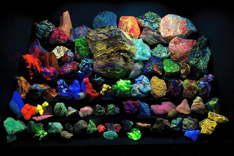 Fluorescent Mineral Display courtesy Steve Hutchcraft