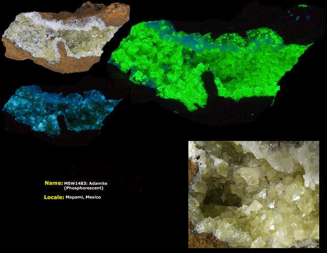 Phosphorescent Adamite - Mapami, Mexico