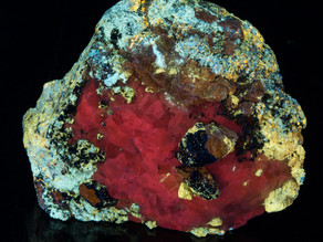 Afghanite, Calcite, Phlogopite, w/ Unknowns Afghanistan - very bright and colorful