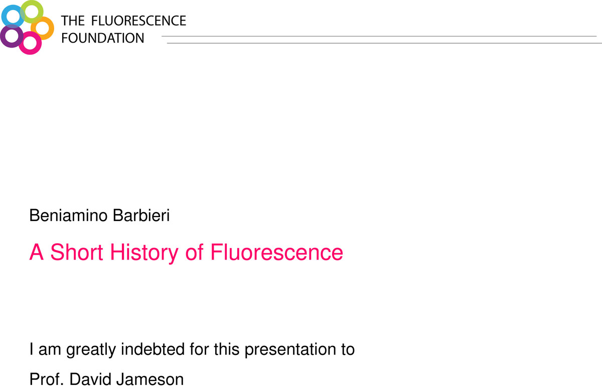 History of Fluorescence