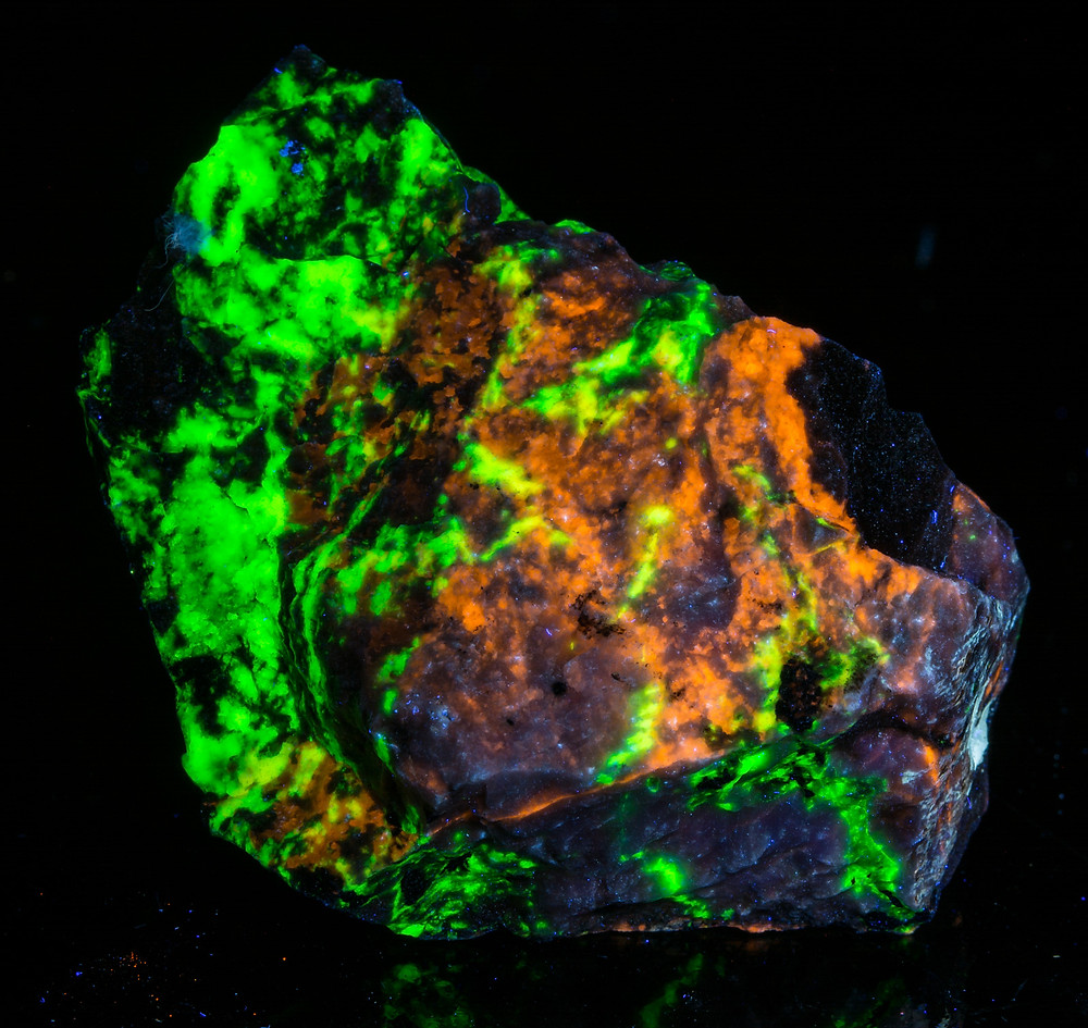 Clinohedrite, Hardystonite, Willemite - Longwave