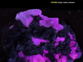 Purple Fluorescing Apatite - Pakistan
