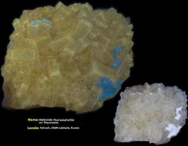 Fluorapophylite w/ Thaumasite - Talnach, Russia