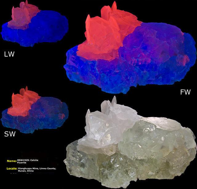 Calcite on Fluorite - Xinghuapu Mine, Hunan, China
