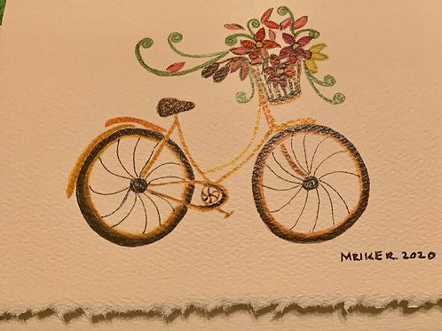 Bike w/basket & Covered bridge
