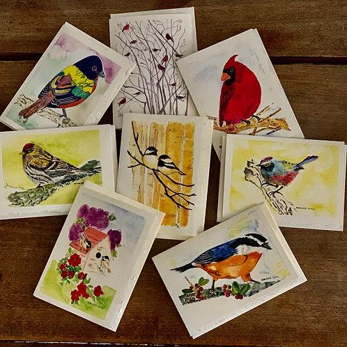 Bird Series 8 different cards