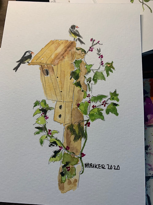 Birdhouses and feathered friends