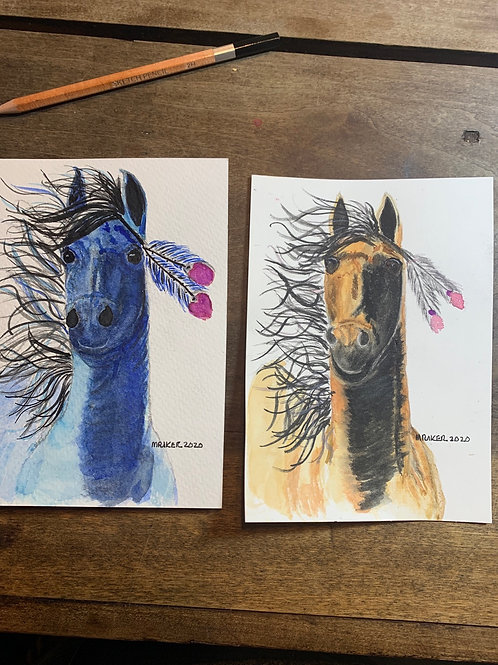 Warrior Ponies Notecard Series