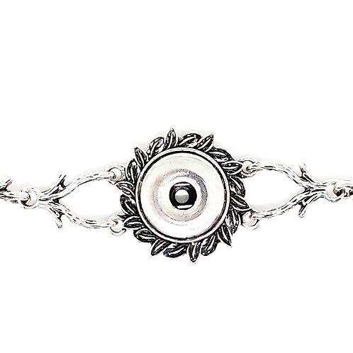 Silver Snap Bracelet