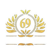 69th-anniversary-logo-69-years-anniversa