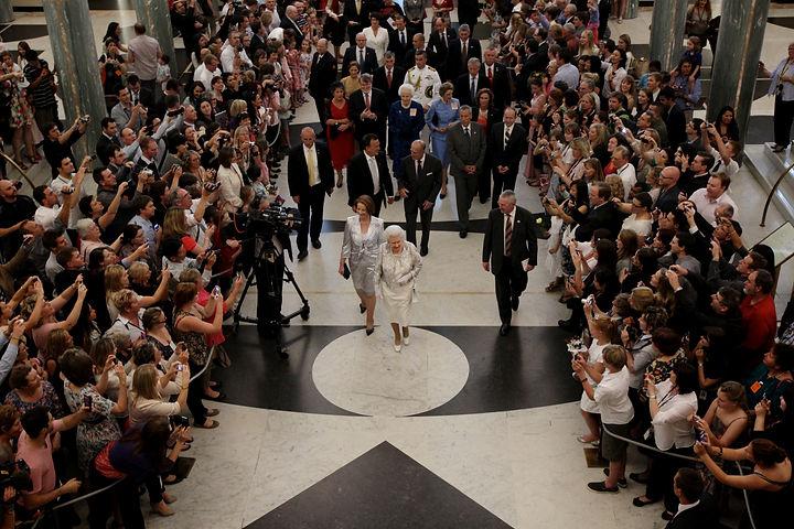 Queen Attends Parliament 2011
