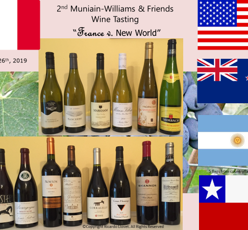 2nd Wine Challenge Muniain Williams – France v. New World – January 26th, 2019