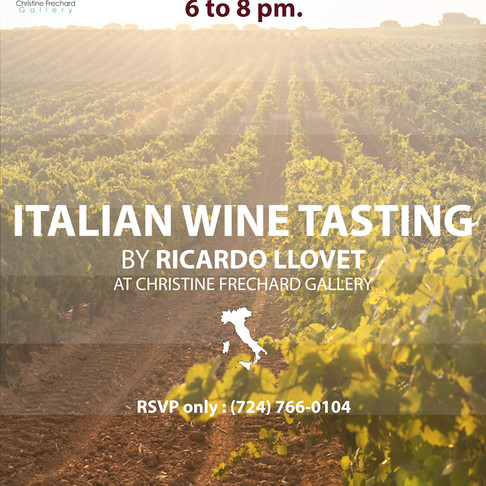Italian Wine Tasting at Christine Frechard's Gallery - Sep 2019