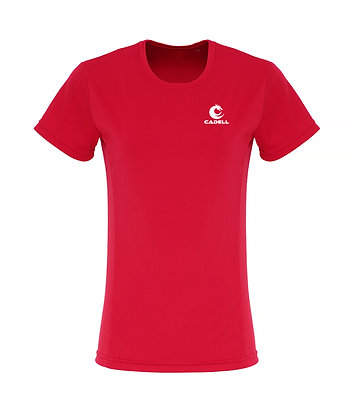 Women's Embossed Tech T-Shirt Red