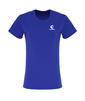 Women's Embossed Tech T-Shirt Royal Blue