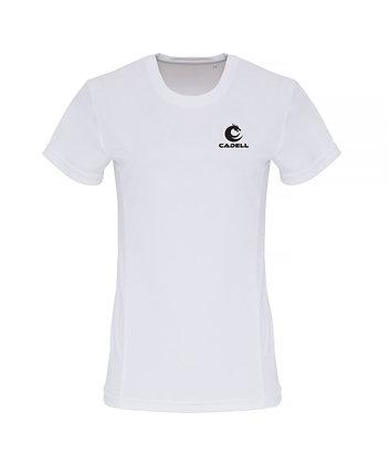 Women's Embossed Tech T-Shirt White