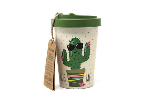 cactus bamboo travel mug