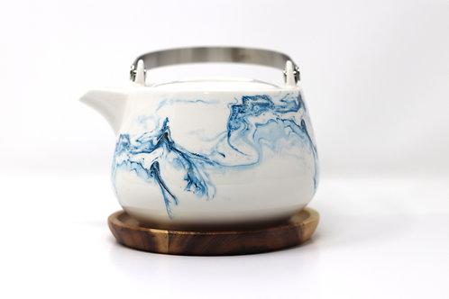 aqua porcelain china teapot