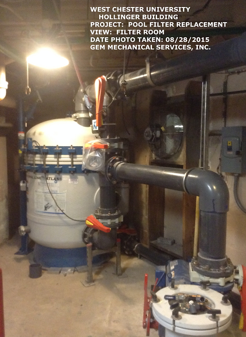 Pool Filter Replacement at Hollinger Field House