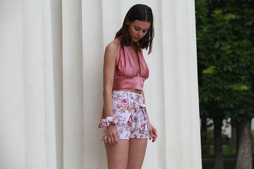 Wrap Short Pink Flowers