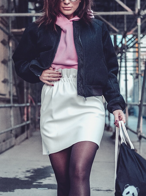 White Vegan Leather Skirt