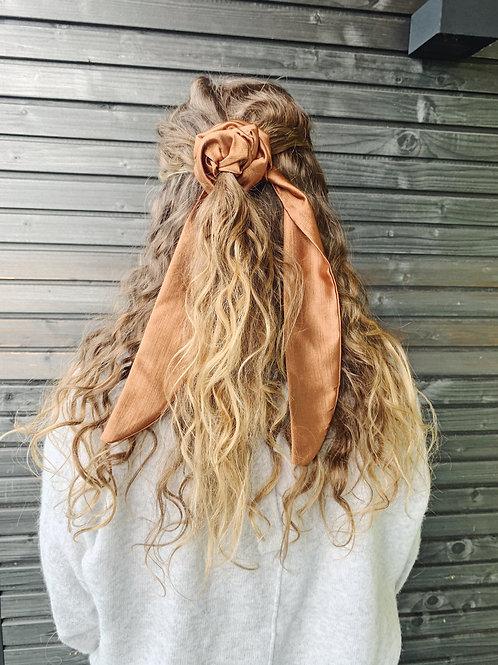 Scrunchie with Bow - Ochre