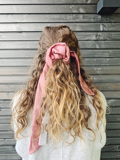Scrunchie with Bow - Pink