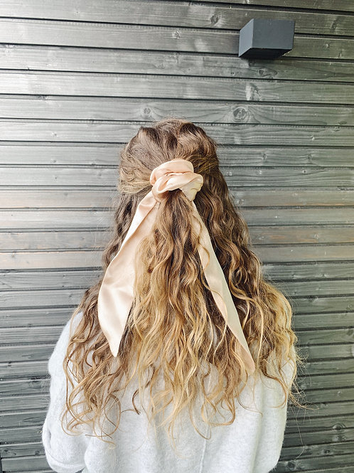 Scrunchie with Bow - Gold