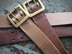 Natural chromexcel Rail belts before and after wear