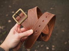 Eastwood Rail belt in cinnamon bridle