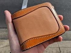 Aged natural veg tan Eastbound wallet