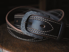 Eastwood Trail belt with black buckle in black chromexcel