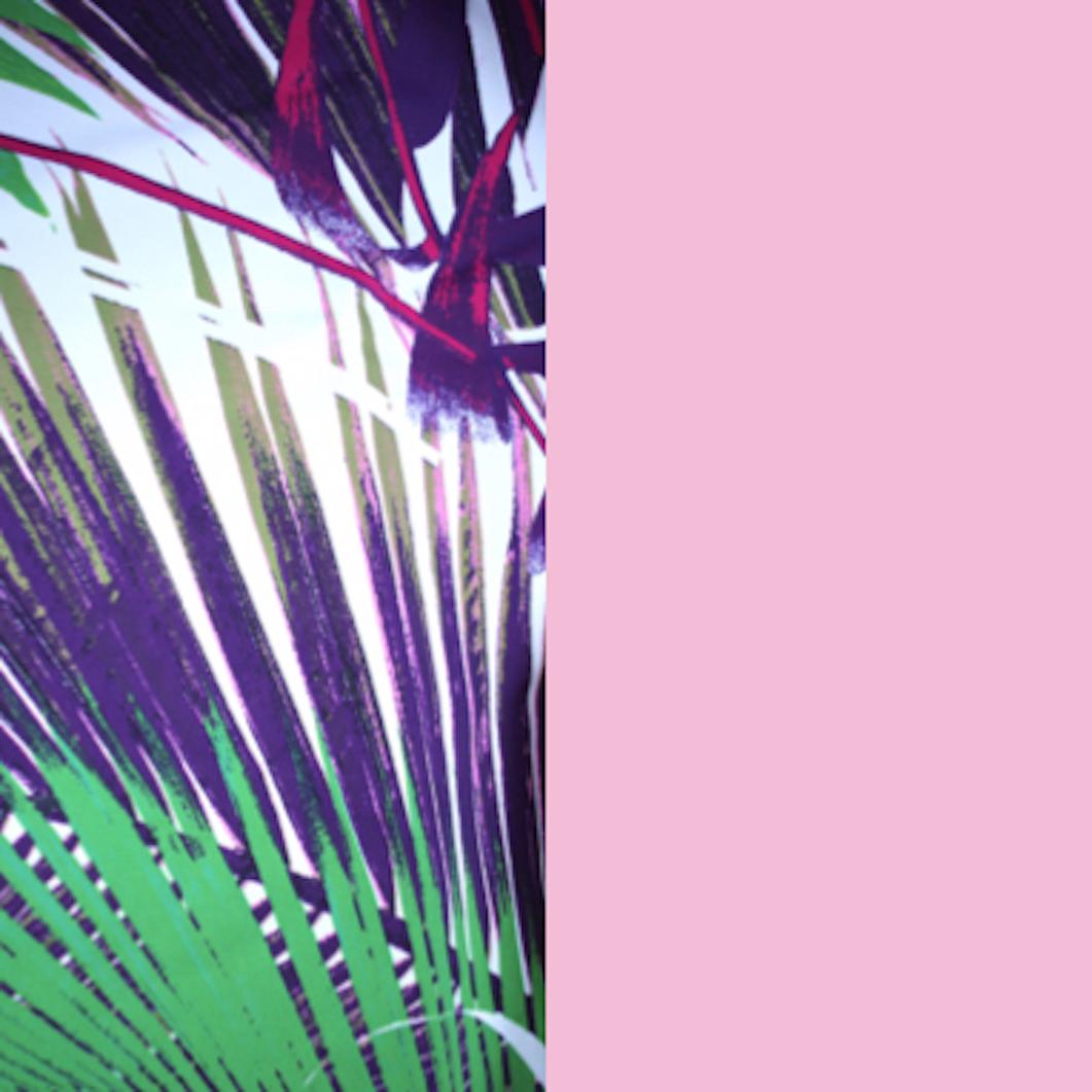 Paradise Palm/Pink Hibiscus