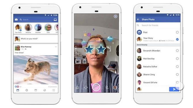 Facebook Imita a Snapchat