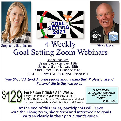 Goal Setting 4-Part Webinar Series