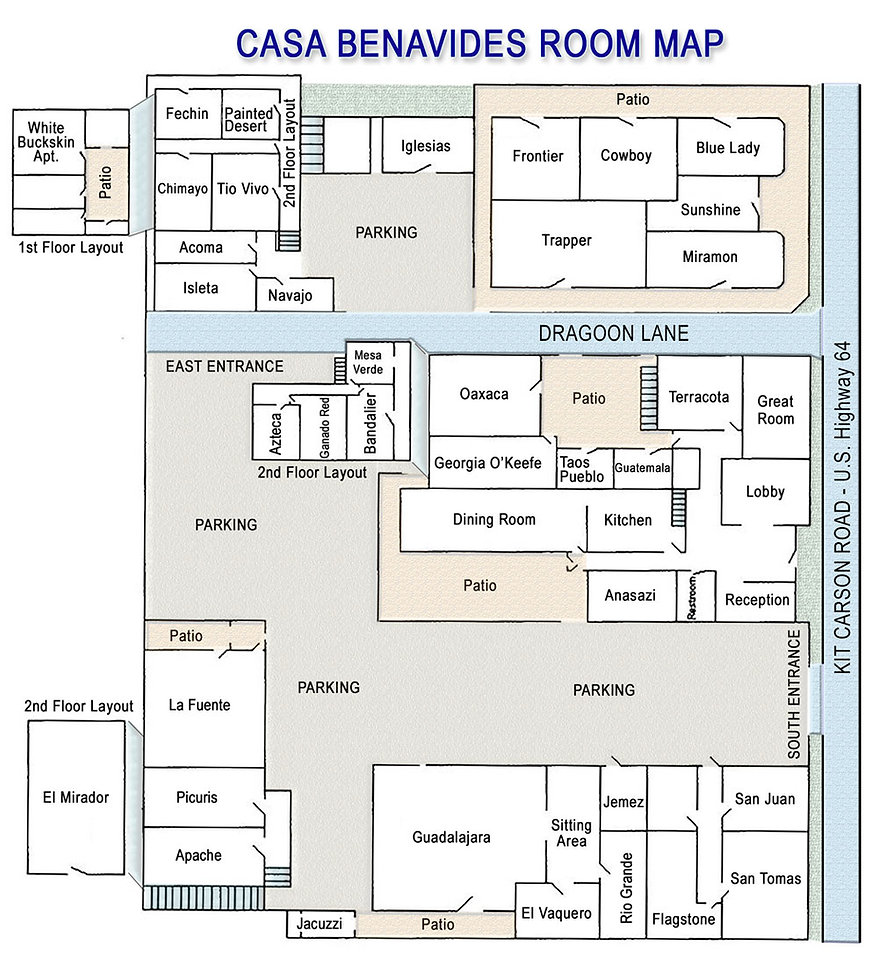 Casa Benavides Room Map