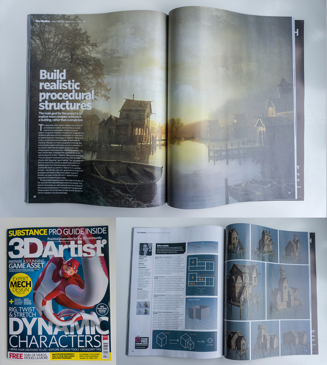 Procedural Lake Houses in 3D Artist Magazine Issue #105!