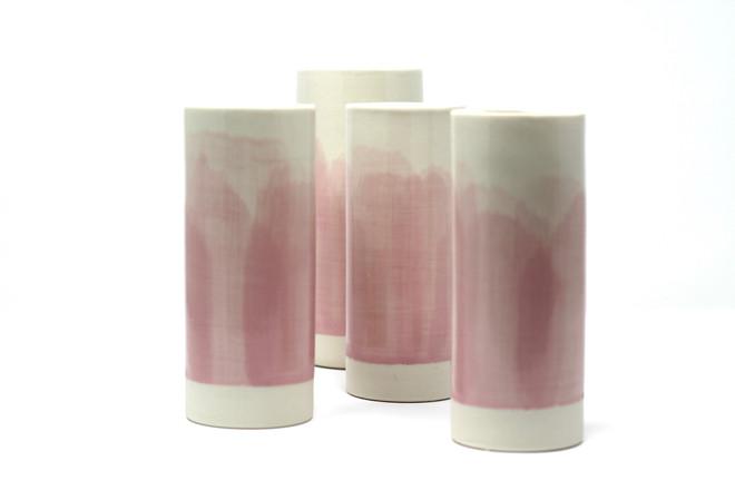 Pink cylinder vase