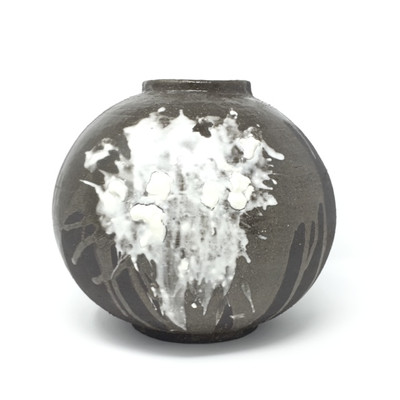 Black and White Moonjar