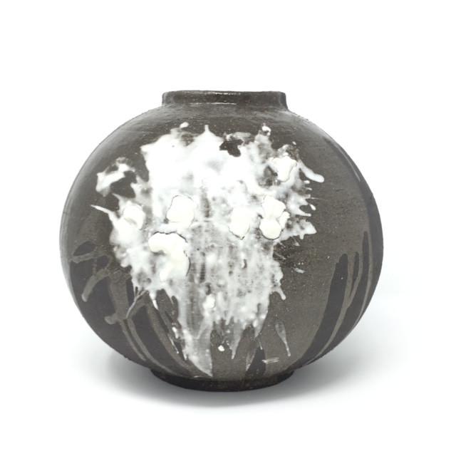 Black and White Moonjar